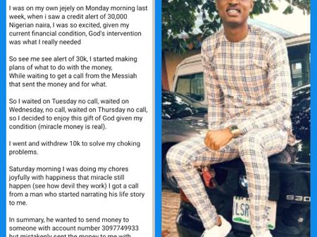 5 Days After  Man Mistakenly Sent #30k to My Account, He Begged Me for a Refund - Man