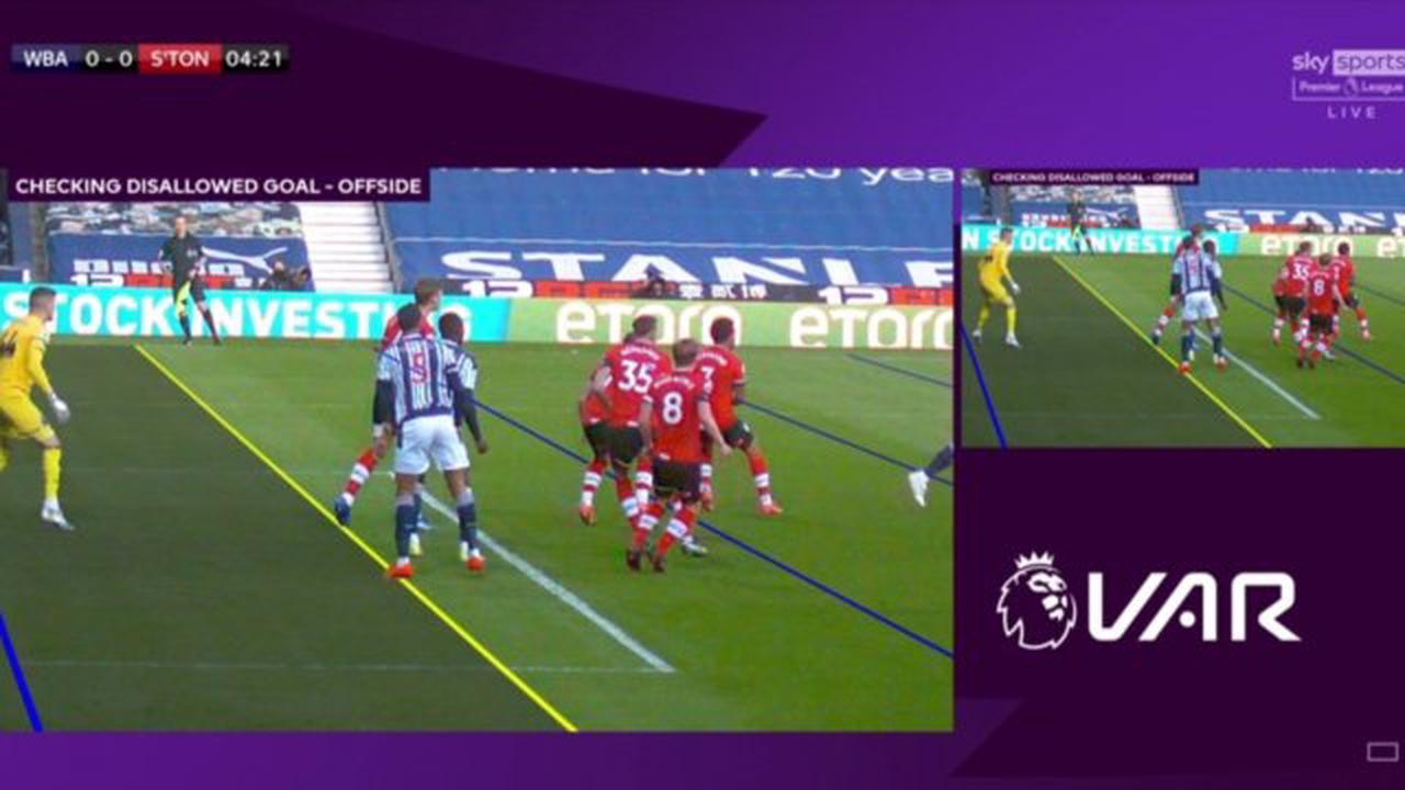 Diagne goal against Southampton disallowed by VAR as 'definitive line' could not be drawn