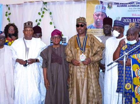 Governor Babagana Zulum Got An Award In Oyo State Today, See Photos From The Award Presentation