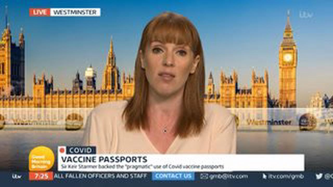 Angela Rayner under fire from GMB viewers over U-turn on vax passports 'Unelectable'