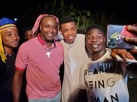 Popular Actor, Femi Adebayo, Visits Renowned Comedian, Woli Agba