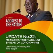 President Akufo-Addo to Address the Nation Tonight.