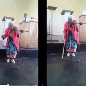 Just See The Beautiful Moment A 90yrs Old Woman Was Dancing & Leading Praises In The Church (Video)