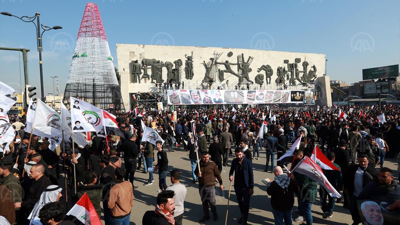 Iraqis mark year since Soleimani killing with anti-US slogans