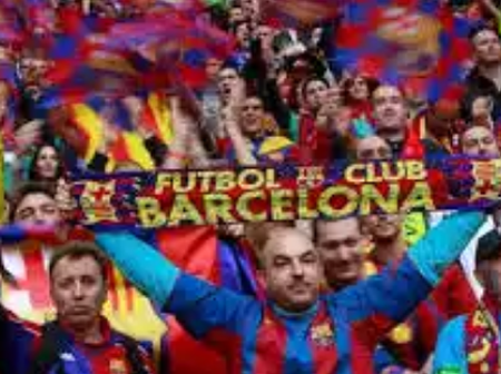 Reactions of Barcelona fans as Barcelona prepare to face Celta Vigo in the Spanish LaLiga.