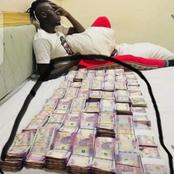 Reactions after Akporo was seen with bundles of money in a new photo.