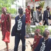 "See Reactions As Man In ""JUJU Dress"" Follows Sowore To Court. See Pictures Of The Man With Sowore"
