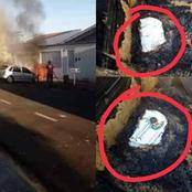 Miracle: A vehicle carrying holy communion and prayer books caught fire See what happened next
