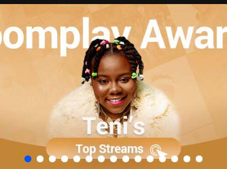 Check the award Nigerian singer, Teni won recently