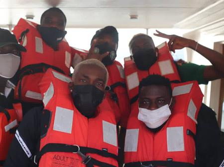 The reason Why Super Eagles Travelled To Benin By Boat (Pictures)