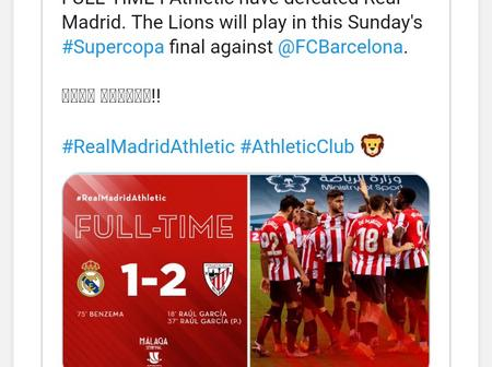 Real Madrid Crushed Out Of Spanish Super Cup On Thursday Night.