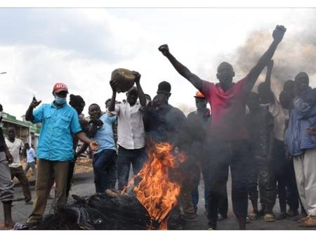 Happening Now: Eldoret-Kitale Road Blocked As Protesters are Demostrating Against Sexual Abuse.
