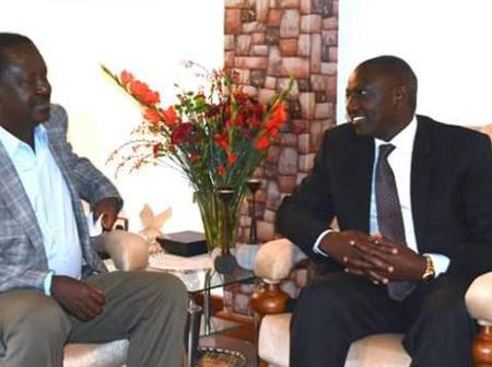 William Ruto and Raila Odinga Allegedly Holding Meeting in Karen