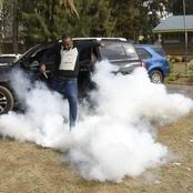 The Pictures Of Flamboyant Langata MP Nickson Korir Kicking Teargas Canisters Goes Viral