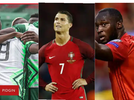 After Nigeria Won, Ronaldo's Team Drew & Lukaku Equalized For Belgium, See Respective Group Tables