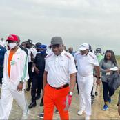 Man reacts as GEJ was seen playing golf in new photos