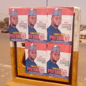 Update: Another presidential campaign posters of Governor Yahaya Bello was seen in Adamawa state