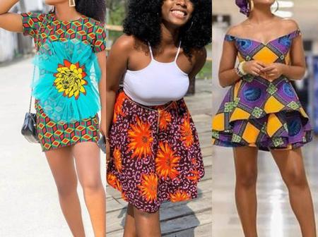 Trendy Ankara Short Gowns for Elegant Ladies