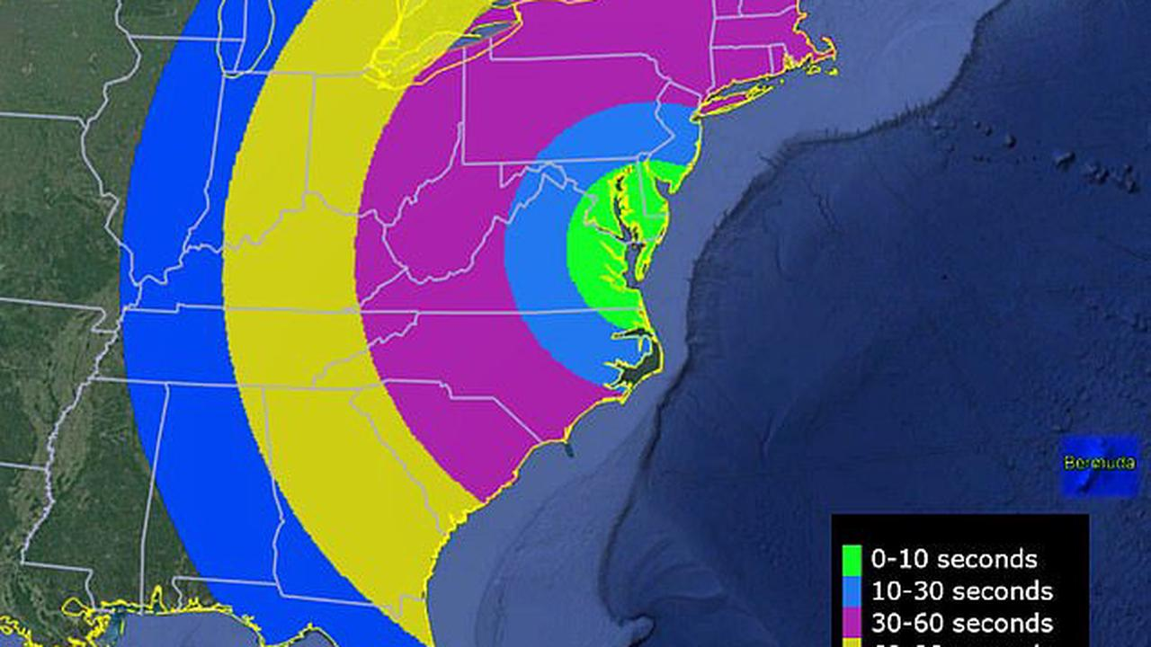 Look up! US East Coast sky will glow green SATURDAY due to NASA's suborbital sounding rocket releasing a vapor some 200 miles above the surface to study space plasma