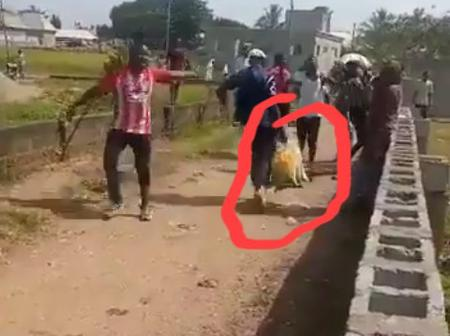 See The Moment A Civil Defense officer Was Caught Looting Some Covid-19 Palliatives