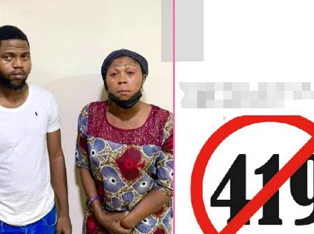 Mother and son arrested by EFCC operatives over 50million naira internet scam in Lagos.