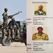 SAD: Nigerian Army Releases Photographs of Soldiers Set to be Buried After Benue Attack