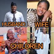 Checkout Lovely Pictures Of Actor Odunlade Adekola, Wife And His 4 Beautiful Children