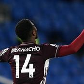 After Iheanacho's brace against West Ham, the Nigeria International has now equalled this record