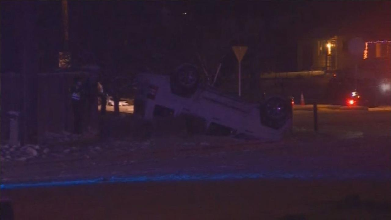 Officers investigate rollover accident near Old Colorado City