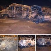 Chaude nuit à Yopougon : un bus et plusieurs véhicules incendiés