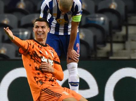 Cristiano Ronaldo Should Have Be Given A Yellow Card For Diving Against Porto, See Photos Here