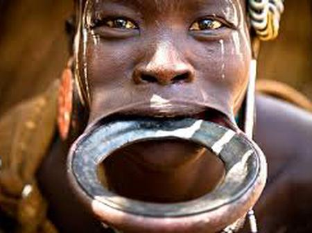 Ethiopian Ethnics group where women's beauty is determined by how large their lip plate is