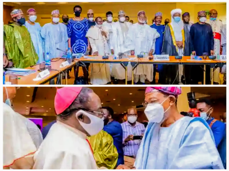 Bishop Kukah, Sultan of Sokoto, Abdulsalami, Aregbesola, others Meet in Abuja