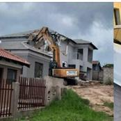 Man Shocks The World By Demolishing Multi Cash mansion built To His Girlfriend After Breakup