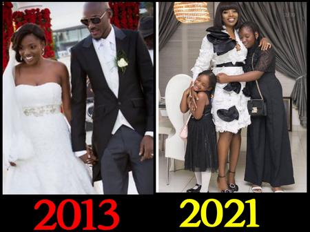 Today Is 2baba's 8th Wedding Anniversary, See Lovely Photos Of His Beautiful Wife And Two Daughters