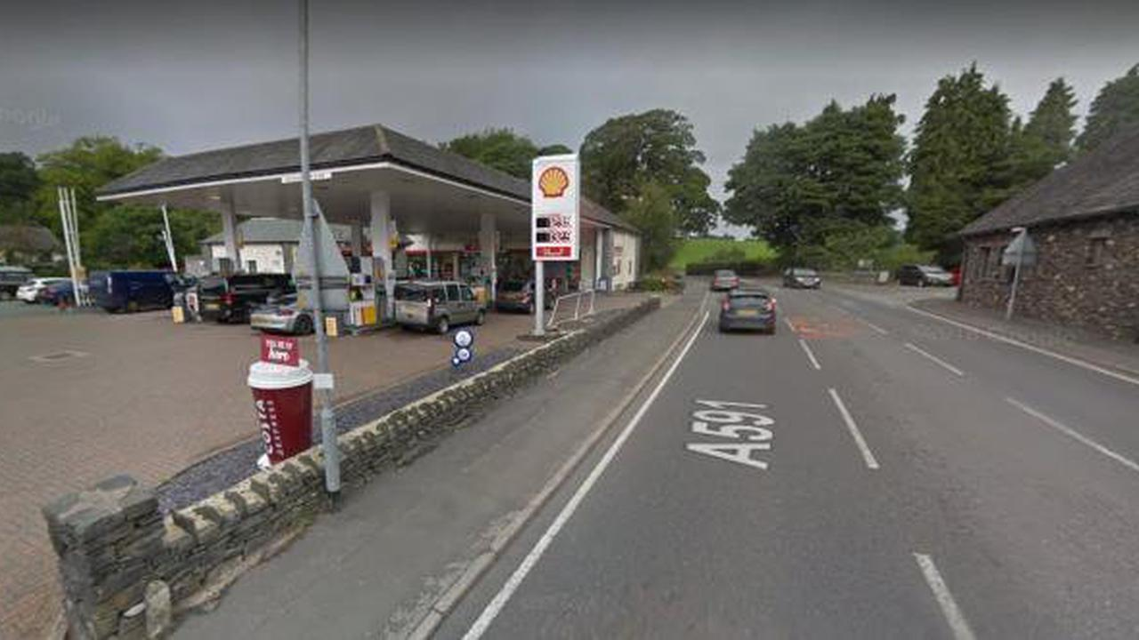 Man accused of having knife at petrol station