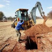 ''I dug up my dead daughter'' man cries out after founding his daughter buried by the rapist