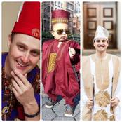Here Are Photos Of Some Foreigners Rocking Various Native Attires Elegantly