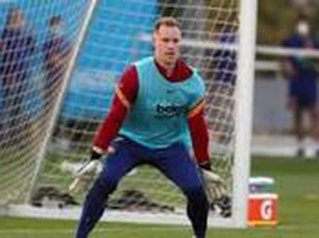 Ter Stegen and Umtiti return to training