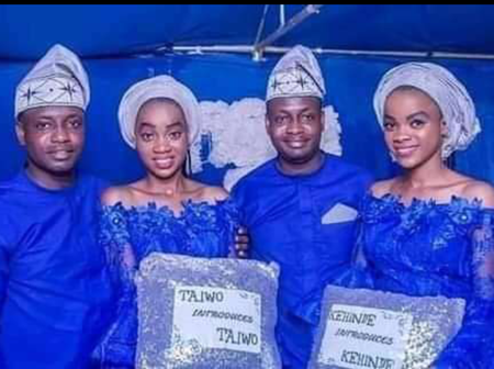 Identical Twins Who Are Both First-Class Graduates Marries Another Set of Identical Twins (PHOTOS)