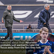 Here's what Manchester United Coach, Ole Gunnar's son said to Mourinho that has got people talking