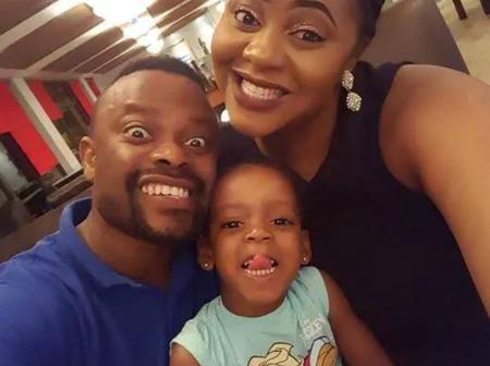 Check Out More Adorable Photos Of Okon Lagos, His Wife And 2 Children