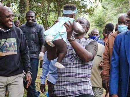 Rare Photos Of William Ruto Holding A beautiful Baby Emerge