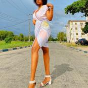 Check Out Beautiful Photos Of The Lady Who Calls Herself The Tallest Girl In Nigeria