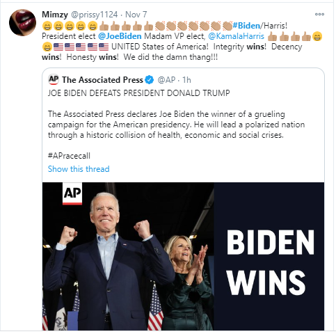 Joe Biden?s triumph in tweets: Obama, the Clintons, Jimmy Carter and others congratulate the 46th President of the United States