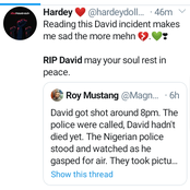 """""""RIP David""""- Trending on Twitter after David was Murdered by some Armed Robbers."""
