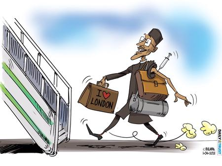 Cartoon About Buhari's Medical Trip Sparks Different Reactions On Social Media