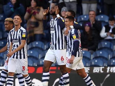 West Brom celebrate Super Eagles star in the club's 1-1 draw against Brighton (Photo)
