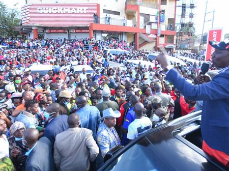 Hustler Nation is unstoppable. Look at how DP William Ruto brought Westlands to a standstill
