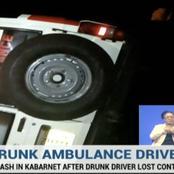 Drunk Kenya Red Cross Ambulance Drunk Kenya Red Cross Ambulance  Driver Causes an Accident While Taking Patients to Hospital